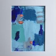 "Wandbild ""Little Orange""- 30x40x3 cm - Acrylpapier(gerahmt und Passepartout)"