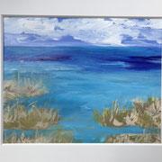 "Wandbild ""A Cloudy Day in Paradise"" - 40 x30 cm Acrylpapier (gerahmt und Passepartout)"