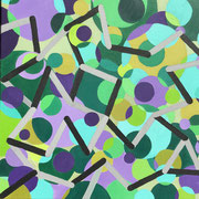"""Wandbild """"Vernetzt"""" - 70x70x4,5 cm"""