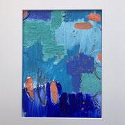 """Kraftvoll"" - 30x40x3 cm - Acrylpapier (gerahmt und Passepartout)"