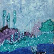 """Blaues Land"" - 60x80x4,5 cm"