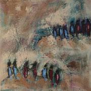"""""""A Long Way"""" - 40x40x4 cm - verkauft"""