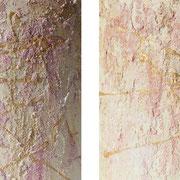 """Glamour"" - 2x 20x20 cm - Holz halbrund"