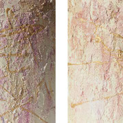 "Wandbild ""Glamour"" - 2x 20x20 cm - Holz halbrund"