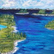 """Into The Blue"" - 70x80x4,5 cm"