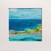 """""""Pacific"""" - 32x32x3 cm - Acrylpapier (gerahmt und Passepartout)"""