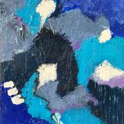 """""""Powerful Blue"""" - 70x90x4,5 cm"""