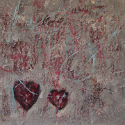 """Heartbeat"" - 40x40x4,5 cm"