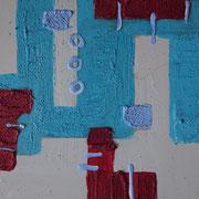 """Wandbild """"Klein Aber Fein I"""" - 20x20x3 cm - Holz - verkauft"""