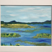 """""""Silent Water"""" - 40x30 cm - Acrylpapier ( gerahmt und Passepartout)"""