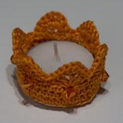 orange mit orangen Perlen 6.-