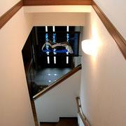 階段の上からもなかなかの雰囲気がありお客さまも気に入っていました。