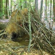 Hütte des Medizinmannes im Schwerter Wald/Dortmund