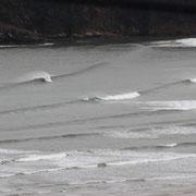 Wellen in Galicien