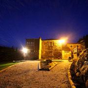Unsere Unterkunft bei Nacht