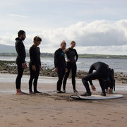 Surfsession am Spot