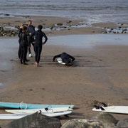 Surfsession am Strand