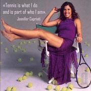 """""""Теннис - это то, что я делаю, и неотъемлимая часть того, кем я являюсь"""". Дженнифер Каприати"""