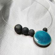 collier contemporain céramique raku