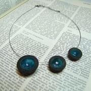 collier artisanale en raku