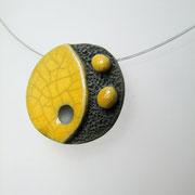 collier conteporain ceramique raku
