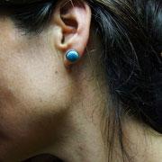 bijou bleu turquoise en ceramique raku