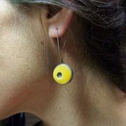 pendant d'oreilles en céramique raku
