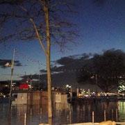 Main bei Hochwasser 2