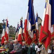 22 porte-drapeaux ont donné à la cérémonie une allure exceptionnelle