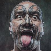 Ritual - Maoris begrüßen sich etwas ungewöhnlich - sind aber i.d. R. friedfertig :-)