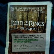 Der Herr der Ringe ist überall ... vermarktet, und hat den Tourismus nochmals übermäßig angekurbelt.