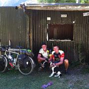 Gemeinsam mit Uwe auf dem Rainbow Trail unterwegs.