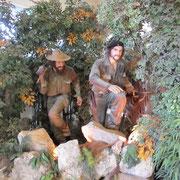Nachgestellte Szene von Che Guevara und Fidel Castro im Museo de la Revolution in Havanna.