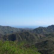 Der hügelige Osten von Baracoa in Richtung Süden.