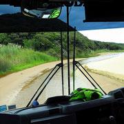 "Auf dem Weg zum Cape Reinga (Cape Reinga bedeutet ""Unterwelt"")"