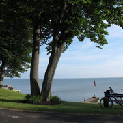 Übernachtung am Lake Erie.