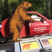 Eindringliche Warnung vor den Schwarzbären.