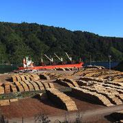 Der Holzhandel floriert