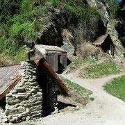 Spärliche Behausungen und Knochenjob in den Minen von Arrowtown.