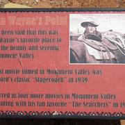 Im Monument Valley wurden mehrere Western mit John Wayne gedreht.