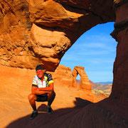 Arches National Park - die Steinbögen (engl.: arches) sind durch Erosion und Verwitterung entstanden
