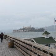 San Francisco - die vorgelagerte, ehemalige Gefängnisinsel Alcatraz.