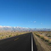 Die letzten Ausläufer der Sierra Nevada.