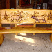 Carved Signs/ Benches