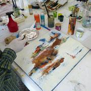 Acrylmalerei Mischtechniken