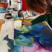 Acrylmalerei, Experimente mit Kreisen