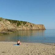 Strand am Montagmorgen