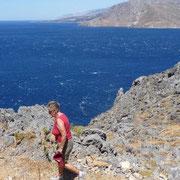 stürmische Wanderung rund um den Kalypso