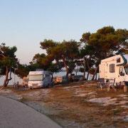 unser Platz am Camp Medulin