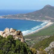 Bucht San Nicolao mit Capo Pecora